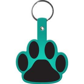 Imprinted Paw Flexible Key Tag