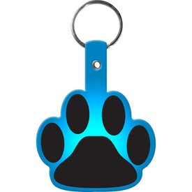 Paw Flexible Key Tag with Your Logo