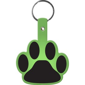 Paw Flexible Key Tag Imprinted with Your Logo