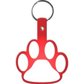 Printed Paw Flexible Key Tag