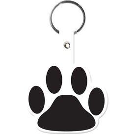 Personalized Paw Flexible Key Tag