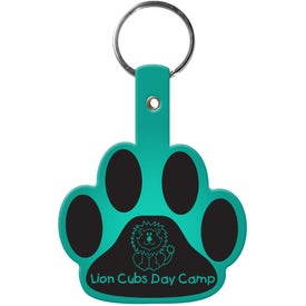 Paw Flexible Key Tag with Your Slogan