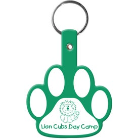 Paw Flexible Key Tag for your School