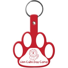 Paw Flexible Key Tag for Customization