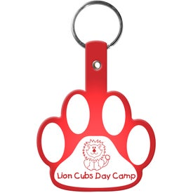 Paw Flexible Key Tag for Advertising
