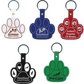 Custom Paw Flexible Key Tag