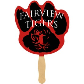Paw Print Hand Fan (One Sided, Full Color)
