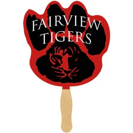 Paw Print Sandwiched Hand Fans (Full Color Logo)