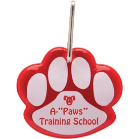 Monogrammed Paw Shaped Reflective Collar Tag