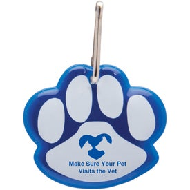 Paw Shaped Reflective Collar Tag for Your Company