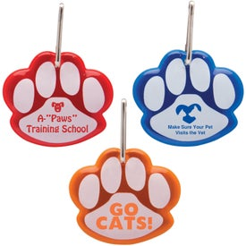 Paw Shaped Reflective Collar Tag Giveaways