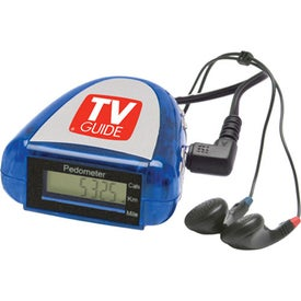 Pedometer with FM Scanner Radio for Marketing