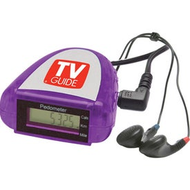 Promotional Pedometer with FM Scanner Radio