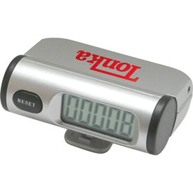 Pedometer with Jumbo LCD Display Imprinted with Your Logo