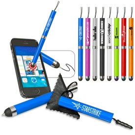 Pen and Stylus with Cleaning Cloth for Advertising
