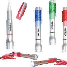 Branded Pen Light with Breakaway Lanyard