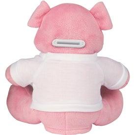 Custom Penny Pincher Plush Pig Bank