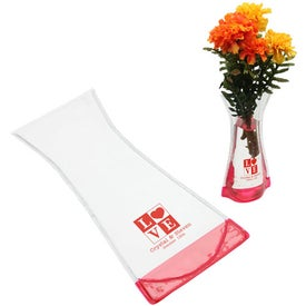 Perennial Foldable Vase with Your Slogan