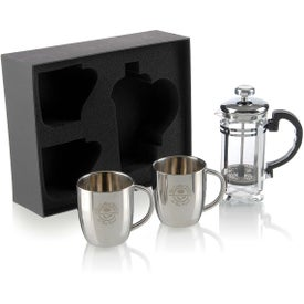 Personal Espresso Set Imprinted with Your Logo