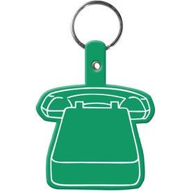 Monogrammed Phone Key Tag
