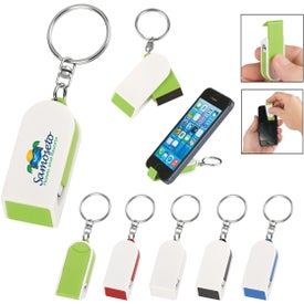 Phone Stand And Screen Cleaner Combo Keychains