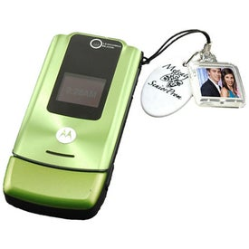 Photo Cell Phone Charm Branded with Your Logo