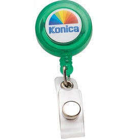 Monogrammed PhotoVision Round Badge Holder