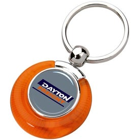 Monogrammed PhotoVision Circle Key Ring