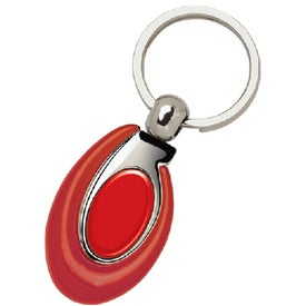 PhotoVision Ellipse Key Ring Printed with Your Logo