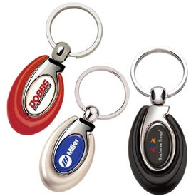 Printed PhotoVision Ellipse Key Ring