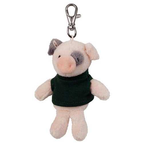 Pink / Black Pig Plush Key Chain