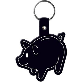 Monogrammed Piggy Bank Key Tag