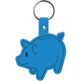 Piggy Bank Key Tag Imprinted with Your Logo