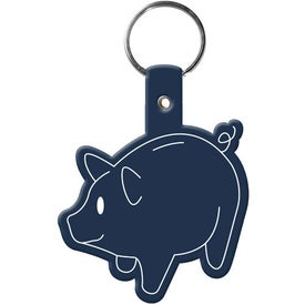 Branded Piggy Bank Key Tag
