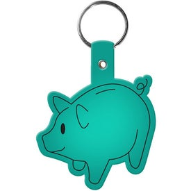 Piggy Bank Key Tag Branded with Your Logo