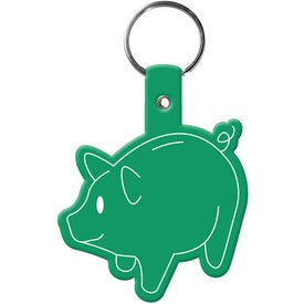 Customized Piggy Bank Key Tag