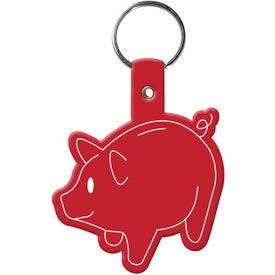 Logo Piggy Bank Key Tag