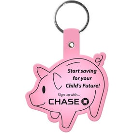Piggy Bank Key Tag