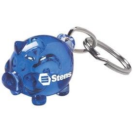 Promotional Piggy Keychain