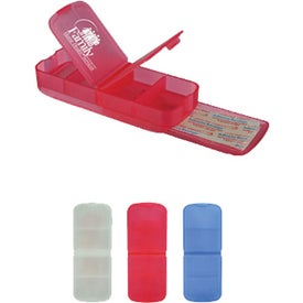 Imprinted Pill Box and Bandage Dispenser