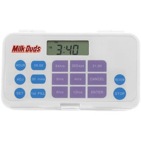 Personalized Pill Box With Timer