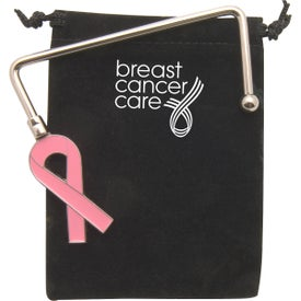 Pink Ribbon Purse Hook