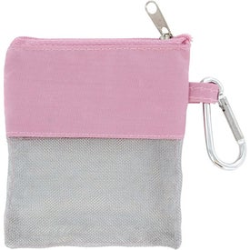 Imprinted Pink Travel Pouch