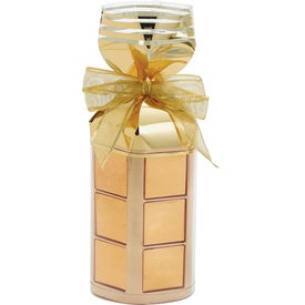 Piza Chocolate in Striped Gift Bag