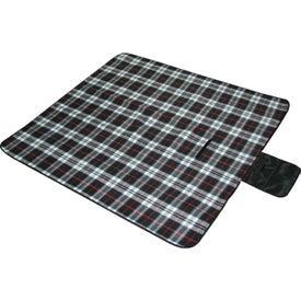 Monogrammed Plaid Picnic Blanket