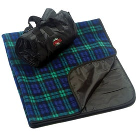 Plaid Fleece Picnic Blanket Branded with Your Logo