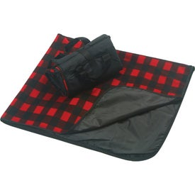 Plaid Fleece Picnic Blanket Printed with Your Logo