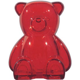 Plastic Bear Shape Bank for Promotion