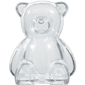 Plastic Bear Shape Bank Branded with Your Logo