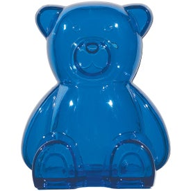 Logo Plastic Bear Shape Bank